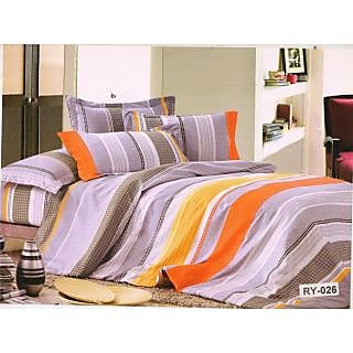 Valtellina Polycotton Striped Double Bedsheet (RBY-000026)