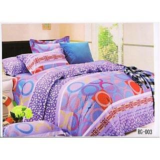 Valtellina Beautiful  Snow and Circle Print Double Bed sheet (RG-003)
