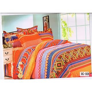 Valtellina New Fashioned Orange Color Double Bed Sheet (RG-006)