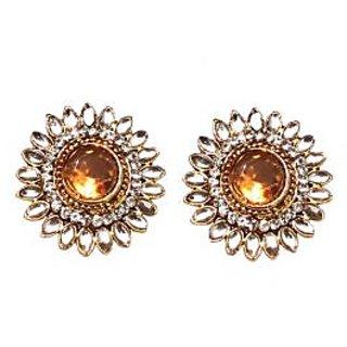 Fancy Yellow Earrings - 10033