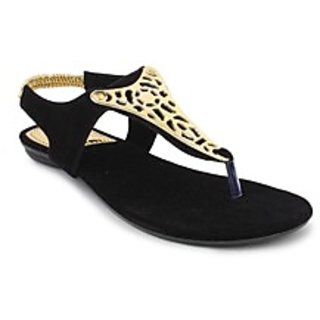 SRS Black Women Casual Sandal