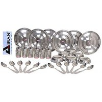 Airan 30 Pcs 100% Stainless Steel Dinner Set - 1225044