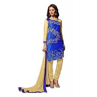 Surat Tex Blue royal blue velwet Semi-Stitched Salwar Suit-C358DL2004RI