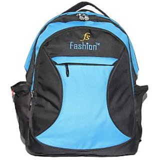 Comfort FS Turquoise and Black Laptop Backpack Bags For Mens & Women EL315