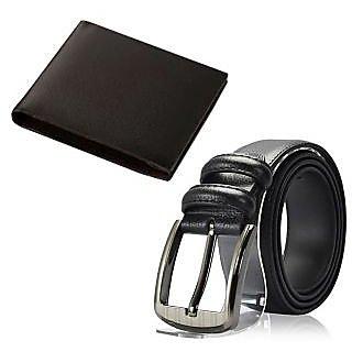 Stylish Black Wallet  Belt Combo Offer
