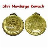 New Gold Plated Shri Navdurga Kavach With Vedic Nav Durga Yantra - Good Luck And Protection Charm