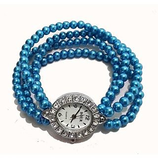 Blue Pearl Bracelet Watch - 712