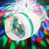 LED Full Color 360 degree Rotating Crystal Lamp For Party Diwali New Year Dance and Disco