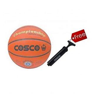 Cosco Championship Basket Ball + 1 Cosco Hand Pump Free