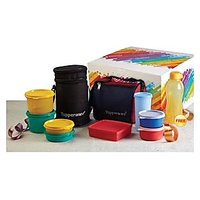 Tupperware Family Lunch Set (1 Best + 1 Executive Lunch) + 500 Ml Water Bottle