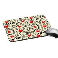 Mesleep Love Digitally Printed Mouse Pads