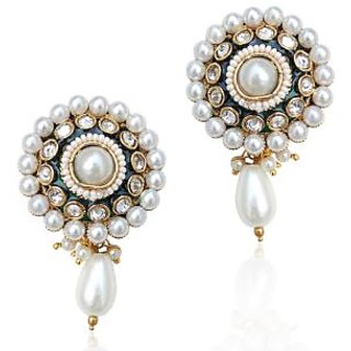Adiva Glowing Pearl Polki Warm Glowing Earring