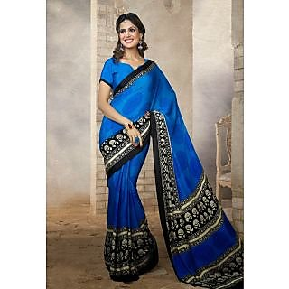 Silk  Blue Saree - 75001780