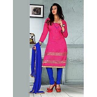 Swaron Pink  Blue coloured  Salwar Kameez 193D1014