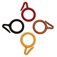 SmartShophar Curtain Ring Plastic 1.5 Inches Black