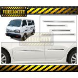 Vheelocity Side Beading Chrome Plated For Maruti Van   -  White Colour