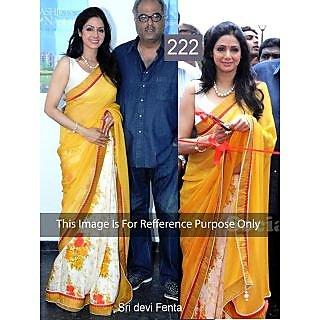 Bollywood Saree Shreedevi yellow