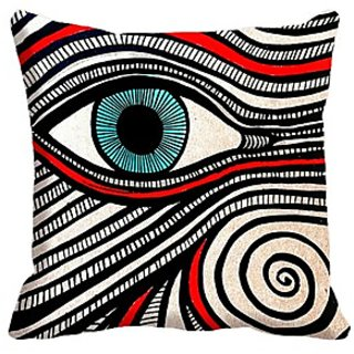Mesleep Eye Digitally Printed  16X16 Inch Cushion Cover Trendy