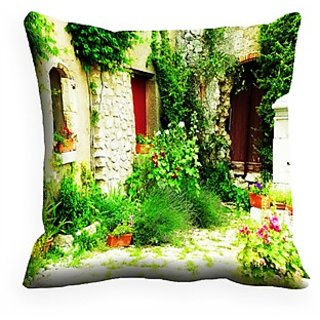 Mesleep Nature Digitally Printed  16X16 Inch Cushion Cover Fine-Looking