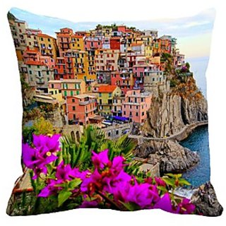 Mesleep Sea Beach Digitally Printed  16X16 Inch Cushion Cover Noticeable