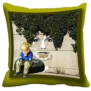 Mesleep Child Digitally Printed Cushion Cover (16X16)   Voguish