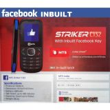UNLOCKED MTS STRIKER C132 CDMA MOBILE PHONE Facebook No Camera Reliance TATA