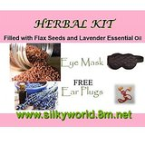 Hot And Cold Therapy Herbal Eyemask Filled With Flax Seeds And Scented With Essential Oils