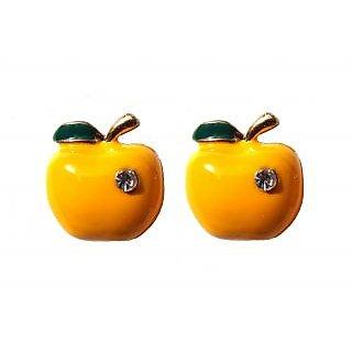 Funky Yellow Apple Earrings - 742
