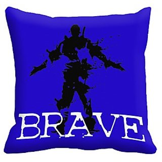 Mesleep Brave Digitally Printed Cushion Cover (16X16)   In Trend