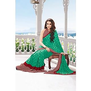 EthnicBasket Green Exclusive Printed Saree