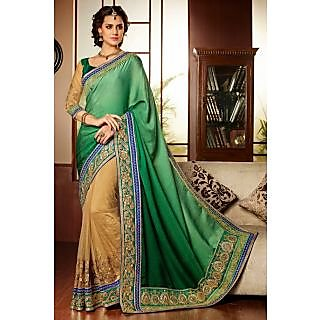 EthnicBasket Beige Remarkable Embroidered Saree