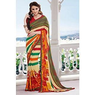 EthnicBasket Multi-Color Tarditional Printed Saree