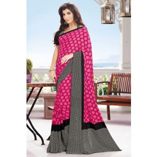 EthnicBasket Pink Fancy Printed Saree