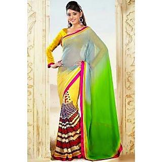 EthnicBasket Multi-Color new Design Printed Saree