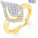 Sukkhi Fine Design Two Tone CZ Studded Ring