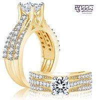 Sukkhi Fancy Two Tone CZ Ring