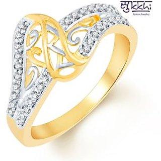 Sukkhi Marvellous Two Tone CZ Studded Ring