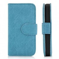 Classical Denim Jeans Texture Flip Leather Wallet Case With Card Slot For Iphone