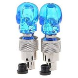 Skull Design Tire Wheel Light Flash Light Blue For Bike And Cars