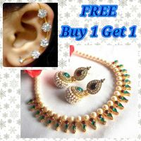 Buy 1 get 1 free multi color pearl necklace set