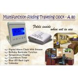 Multifunction Folding Traveling Digital Alarm Clock Table Clock With Snooze En