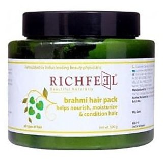 Richfeel Brahmi Hair Pack Nourish Moisture And Condition Hair-500gm.