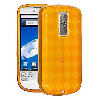 Amzer 85234 Luxe Argyle Skin Case - Orange for HTC Magic