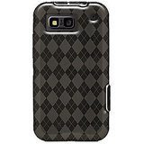 Amzer 89788 Luxe Argyle High Gloss TPU Soft Gel Skin Case - Smoke Grey