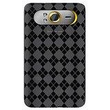 Amzer 89933 Luxe Argyle High Gloss TPU Soft Gel Skin Case - Smoke Grey  HTC HD7