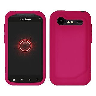 Amzer 91048 Silicone Skin Jelly Case - Hot Pink for HTC Incredible S