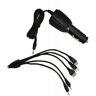 Titoni 6 in 1 Car Mobile Phone charger with USB Function