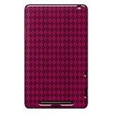 Amzer 95128 Luxe Argyle High Gloss TPU Soft Gel Skin Case - Hot Pink