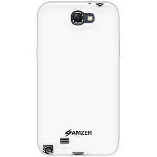Amzer 95022 Soft Gel TPU Gloss Skin Case White Samsung Galaxy Note II GT-N7100