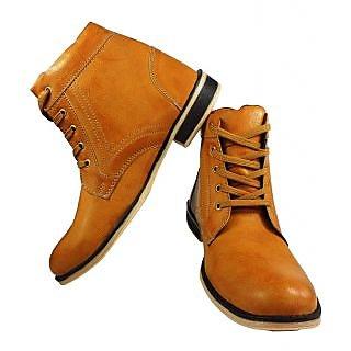 Elvace Comfortable golden Men Boot-5023